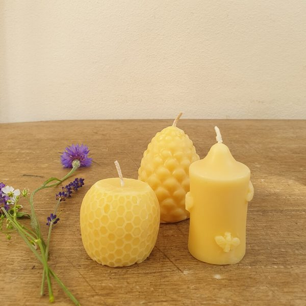 Beeswax candle box