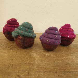 Cupcake pincushion all
